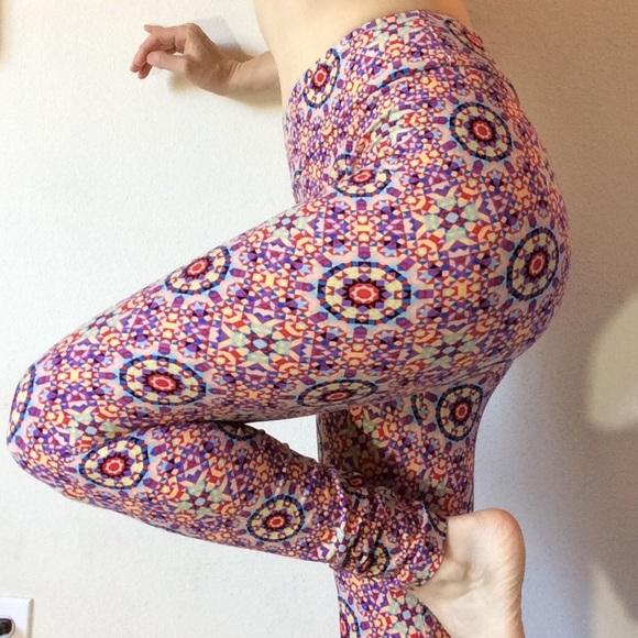 LuLaRoe Pants - Rainbow Kaleidoscope Lularoe O/S Leggings Skinny